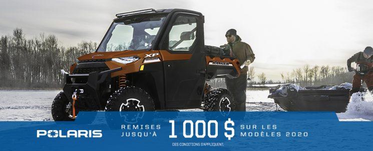 RZR XP 2020 – 500 À 1000$ DE RABAIS JUSQU'AU 28 FÉVRIER